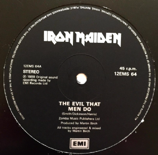 "Iron Maiden - The Evil That Men Do (12"") (VG/NM)"
